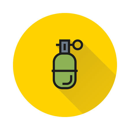 Abstract grenade in line style on white background Created For Mobile, Web, Decor, Print Products, Applications. Icon isolated.