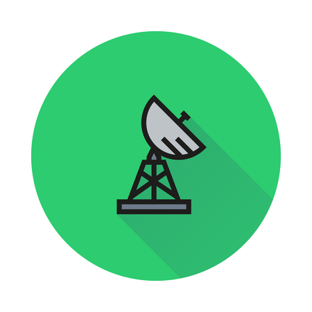 airwaves: Satellite, military, radar icon on white background Created For Mobile, Web, Decor, Print Products, Applications. Illustration