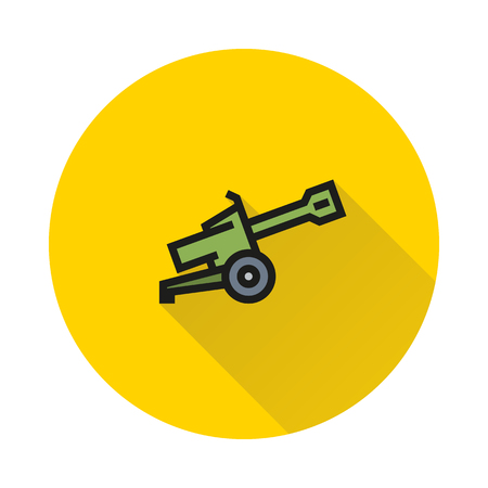 Cannon icon on white background Created For Mobile, Web, Decor, Print Products, Applications. Icon isolated.