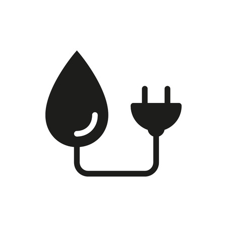 hydroelectric: Pictograph hydro-electric icon icon on white background Created For Mobile, Web, Decor, Print Products, Applications.