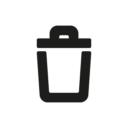 scrapyard: trash bin icon on white background Created For Mobile, Web, Decor, Print Products, Applications. Icon isolated. Illustration