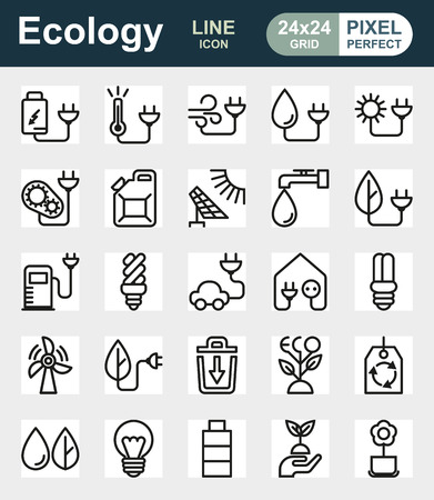eco icon: Eco icon set on white background Created For Mobile, Web, Decor, Print Products, Applications. Icon isolated. Illustration