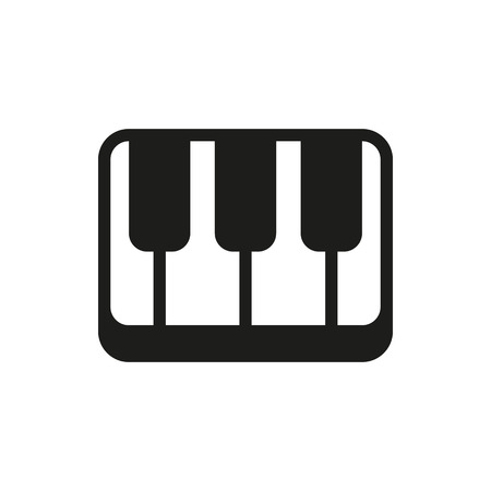key pad: Creative piano keyboard on white background Created For Mobile, Web, Decor, Print Products, Applications. Icon isolated.