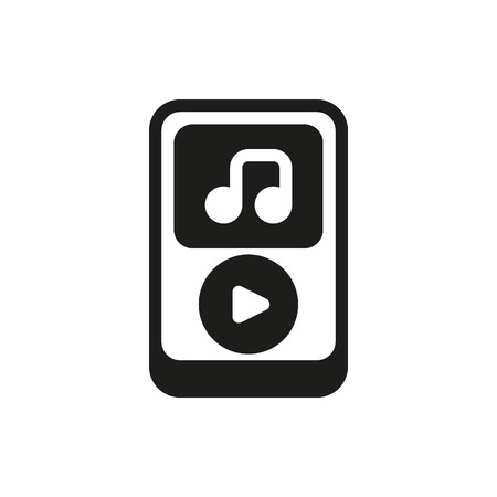 mobile device: device musical player on white background Created For Mobile, Web, Decor, Print Products, Applications. Icon isolated.
