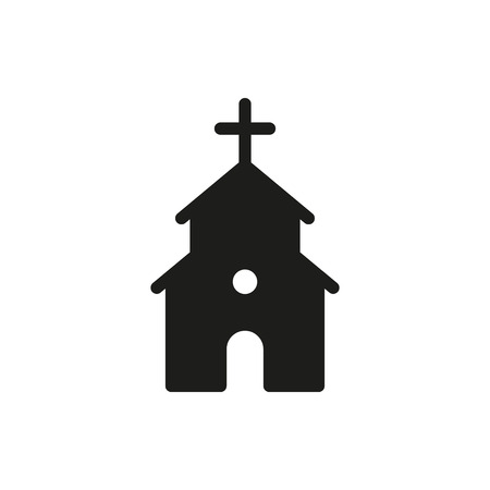 chapel: Cute Church or Chapel on white background Created For Mobile, Web, Decor, Print Products, Applications. Icon isolated.