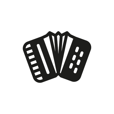 concertina: Accordion icon on white background Created For Mobile, Web, Decor, Print Products, Applications. Icon isolated.