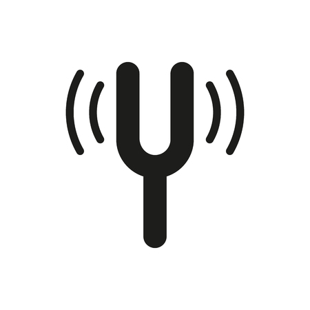 echo: Camertone tuning fork icon on white background Created For Mobile, Web, Decor, Print Products, Applications. Icon isolated.