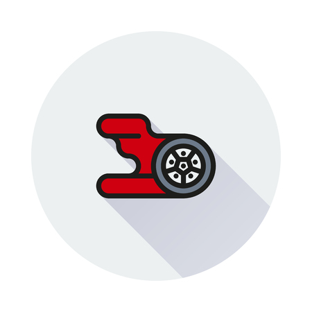 skid: Automotive wheel and tire with flames. icons for video, mobile apps, Web sites and print projects.