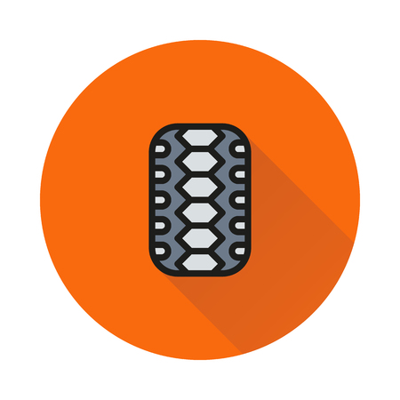 motoring: Car tire isolated on round background Created For Mobile, Web, Decor, Print Products, Applications. Icon isolated. Illustration