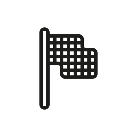 racing checkered flag crossed: racing flag icon on white background Created For Mobile, Web, Decor, Print Products, Applications. Icon isolated. Illustration