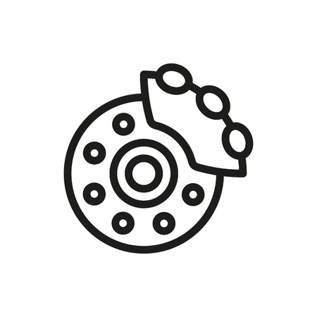 Brake shoe icon on white background Created For Mobile, Web, Decor, Print Products, Applications. Icon isolated.