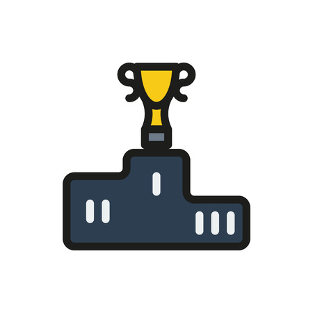alight: sport winners podium on white background Created For Mobile, Web, Decor, Print Products, Applications. Icon isolated. Illustration