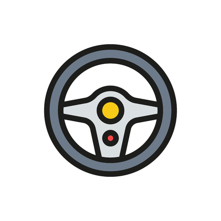 driver cap: Steering Wheel Icon on white background Created For Mobile, Web, Decor, Print Products, Applications. Icon isolated.