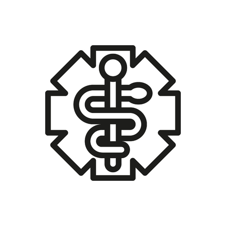 scepter: Emergency Medicine Symbol isolated on white background Created For Mobile, Web, Decor, Print Products, Applications. Illustration