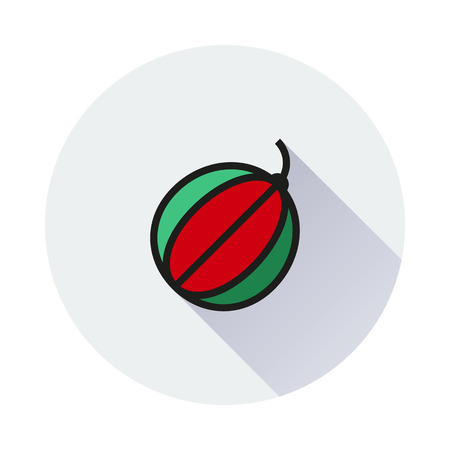 single color: Water melon icon in single color on round background Created For Mobile, Web, Decor, Print Products, Applications. Icon isolated. Illustration