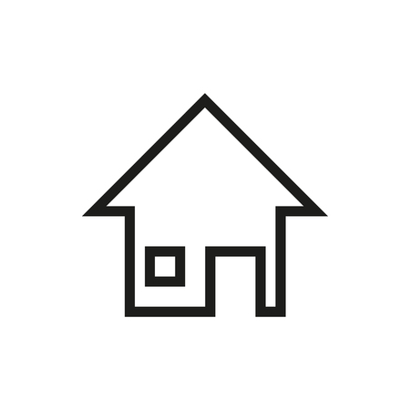 home products: home page icon isolated on white background Created For Mobile, Web, Decor, Print Products, Applications.