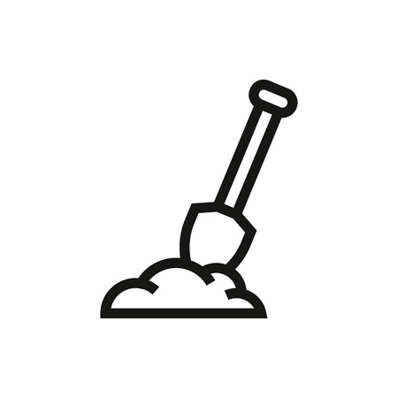 shovel tool for gardening work in ground isolated Created For Mobile, Web, Decor, Print Products, Applications.