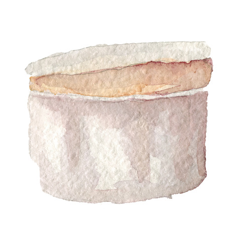 souffle: Lemon souffles watercolor vector art, eps10