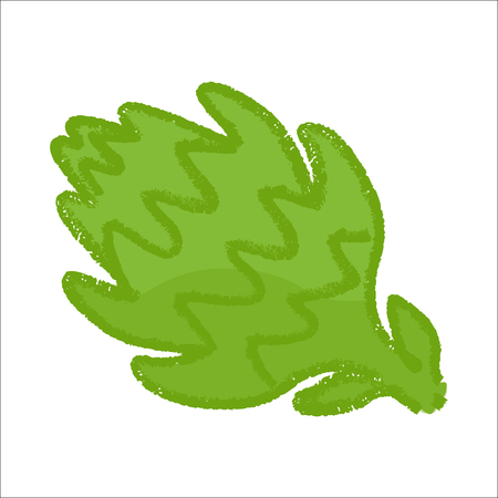 artichoke on white background. Vector illustration