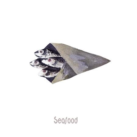 fresh fish whole isolated on a white background Stock Photo