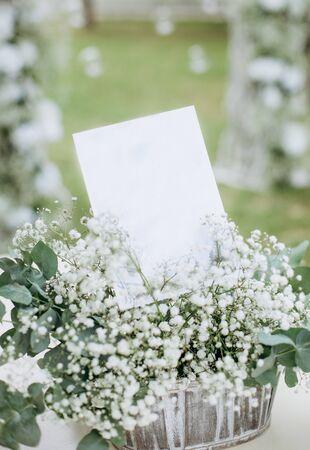 wedding decor flowers postcard card empty space banner set invitation Фото со стока