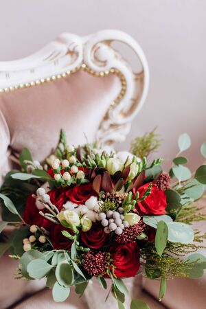 chic bouquet flowers luxury chair decor holiday objects event