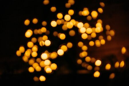 background blank festive blur yellow lights salute burst bokeh
