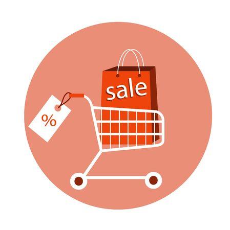 Online shopping e-commerce concept. vector illustration