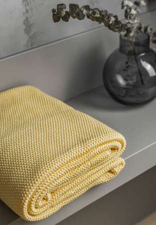 yellow plaid in the interior in home comfort textiles luxury