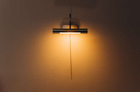 lamp night light wall yellow in the room home comfort