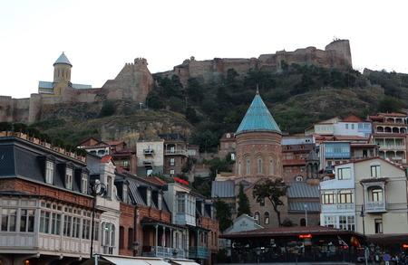 Old Tbilisi With Narikala Fortress