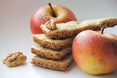 Biscuits, pommes et noix