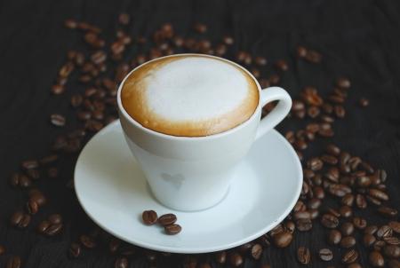 Coupe de cappuchino ?n Les grains de caf�