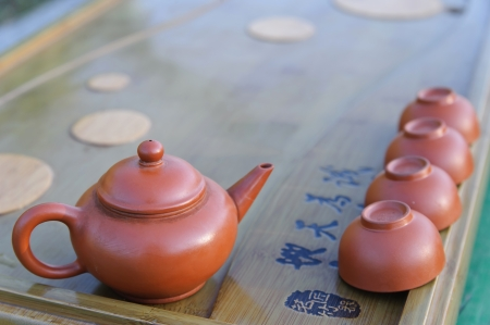 Still-life. Equipment for Chines tea ceremony. photo