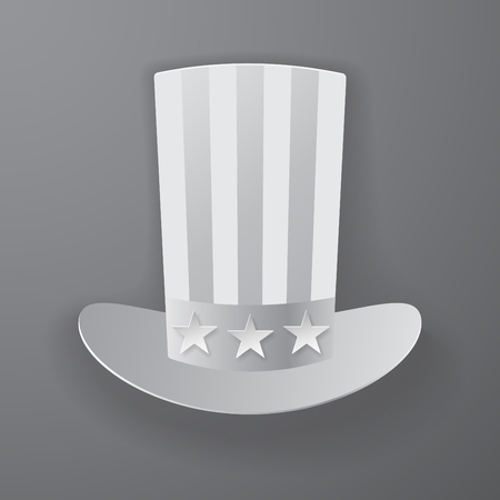 American hat icon with soft shadow style