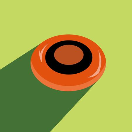 Flying Disk Vector illustration Illusztráció