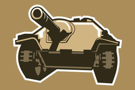 World War II German light tank destroyer vector illustration