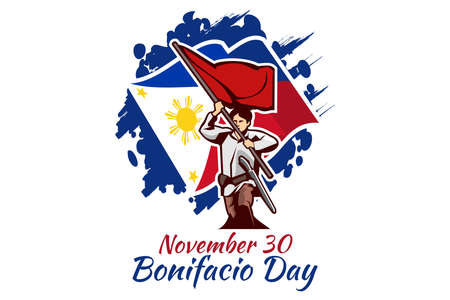 November 30, Happy Bonifacio Day vector illustration. Suitable for greeting card, poster and banner.