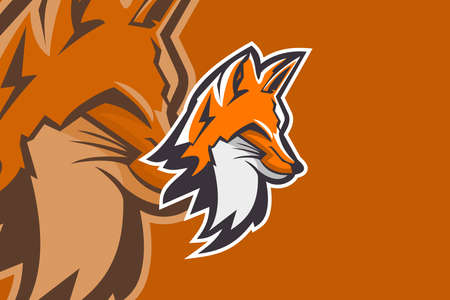 Modern professional for sport team. Fox Head Mascot. Suitable for Esports or other sport.