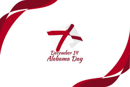 December 14, Alabama Day vector illustration. Suitable for greeting card, poster and banner.