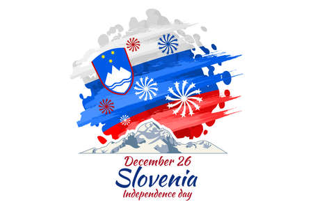 December 26, Independence day of Slovenia vector illustration. Suitable for greeting card, poster and banner. Illustration