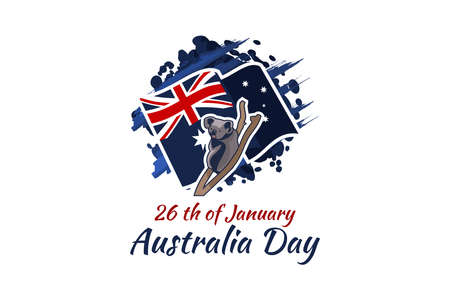 January 26, Happy Australia Day Vector Illustration. Suitable for greeting card, poster and banner.