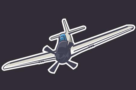 American world war II long-range, single-seat fighter and fighter-bomber aircraft vector illustration 版權商用圖片 - 168040053