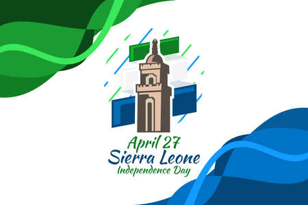 April 27, Independence Day of Sierra Leone vector illustration. Suitable for greeting card, poster and banner. 版權商用圖片 - 167405534