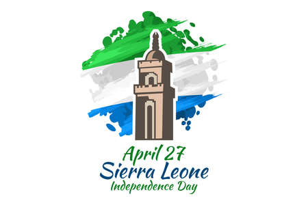 April 27, Independence Day of Sierra Leone vector illustration. Suitable for greeting card, poster and banner. 版權商用圖片 - 167405269