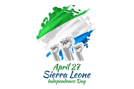 April 27, Independence Day of Sierra Leone vector illustration. Suitable for greeting card, poster and banner. 向量圖像