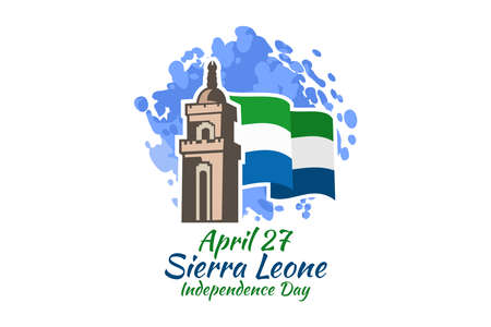 April 27, Independence Day of Sierra Leone vector illustration. Suitable for greeting card, poster and banner. 版權商用圖片 - 167404881