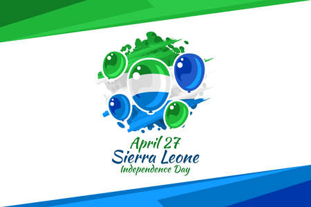 April 27, Independence Day of Sierra Leone vector illustration. Suitable for greeting card, poster and banner. 版權商用圖片 - 167405559