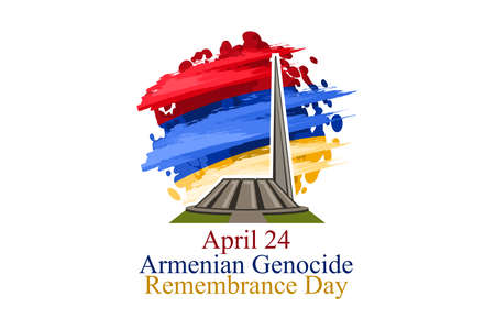 April 24, Armenian Genocide Remembrance Day vector illustration. Suitable for greeting card, poster and banner. 版權商用圖片 - 168040127