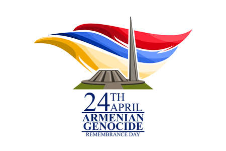 April 24, Armenian Genocide Remembrance Day vector illustration. Suitable for greeting card, poster and banner. 向量圖像